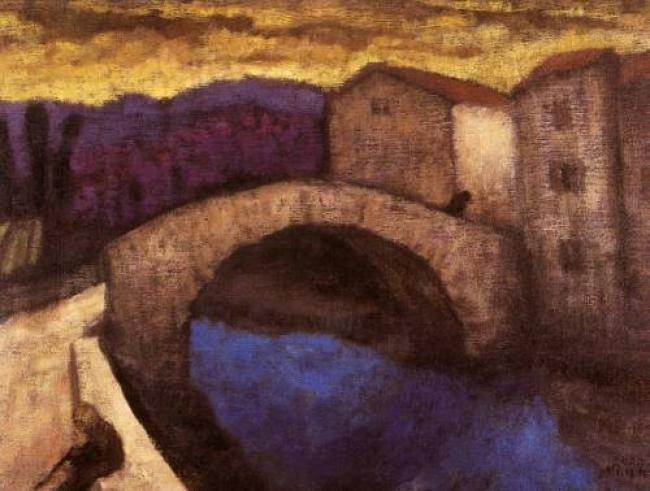 The Old Bridge, Lagrasse : Anthony Murphy Artist