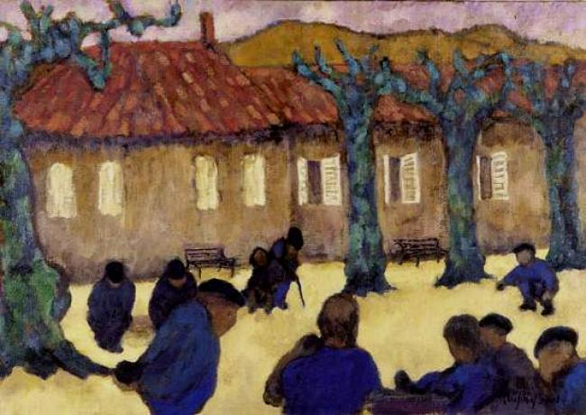 Boule Players, Limoux : Anthony Murphy Artist