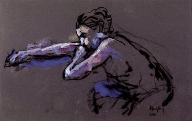 Woman Leaning : Anthony Murphy Artist