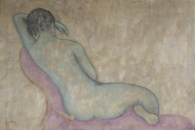 Nude on Chaise Longue : Anthony Murphy Artist