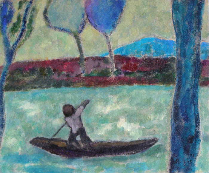 Man in a Punt : Anthony Murphy Artist