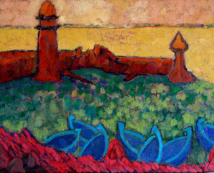 The Harbour Collioure : Anthony Murphy Artist