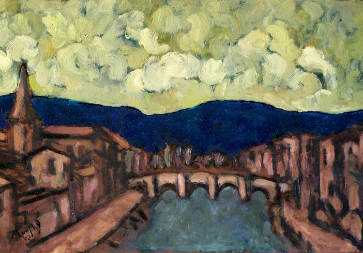Pont Vieux, Limoux : Anthony Murphy Artist