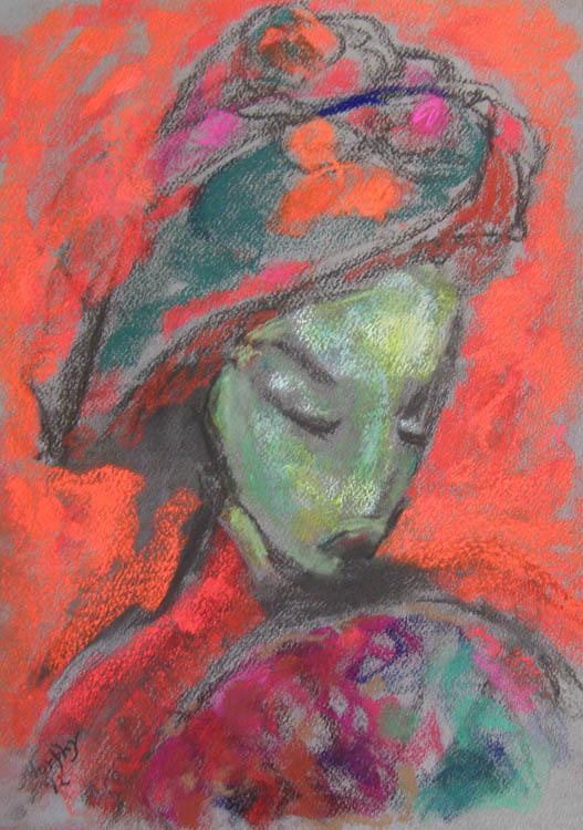 La Dame au Chapeau Rouge : Anthony Murphy Artist