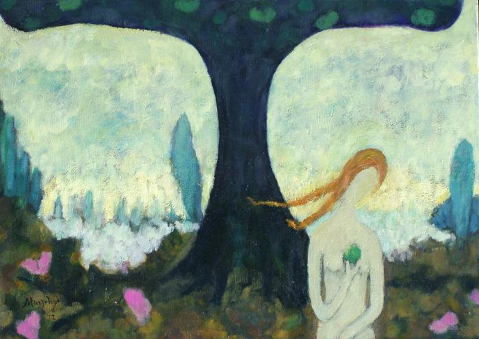 Apple & Eve 65 x 46cm oil on canvas