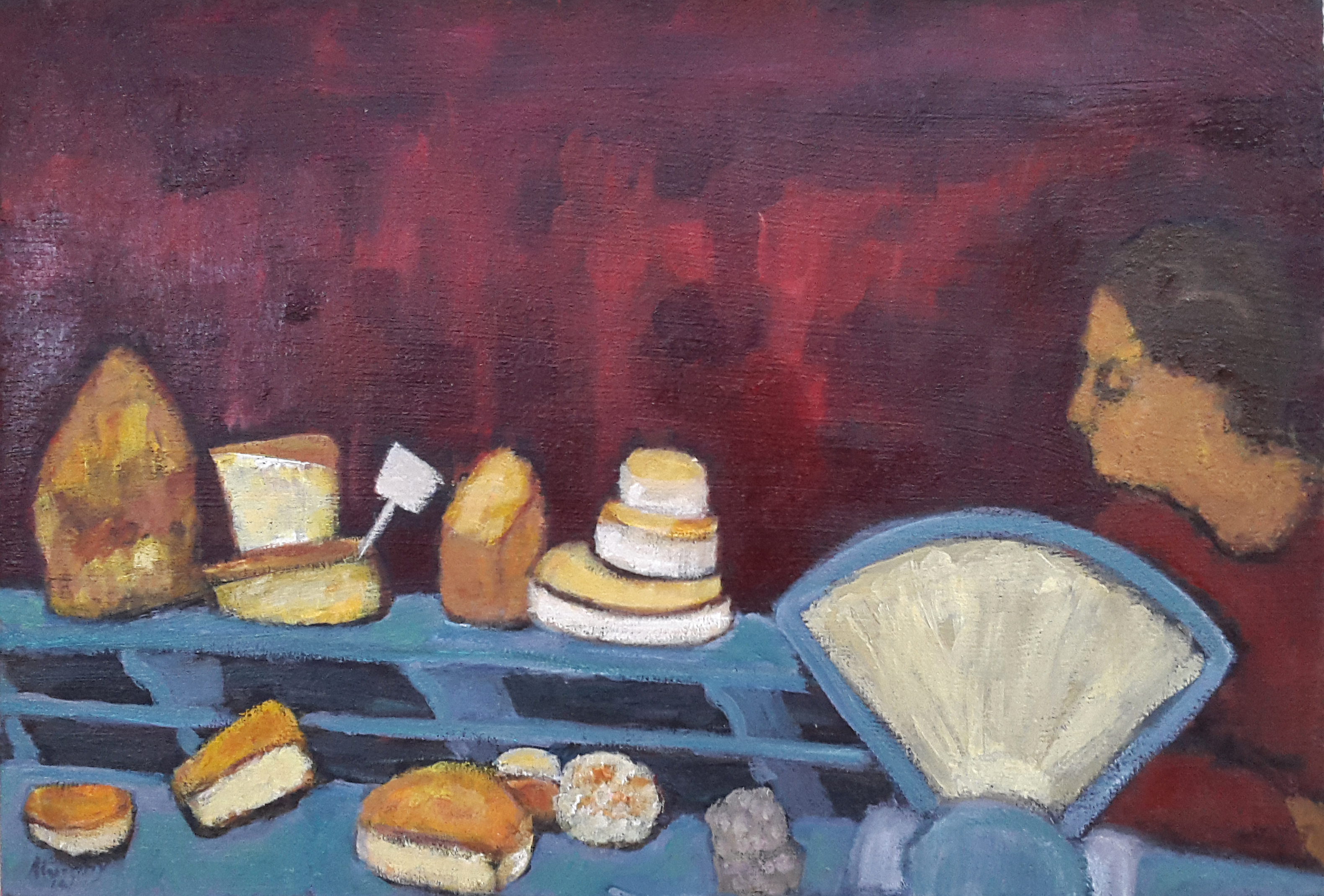 La Fromagerie 55 x 38 cm oil on canvas