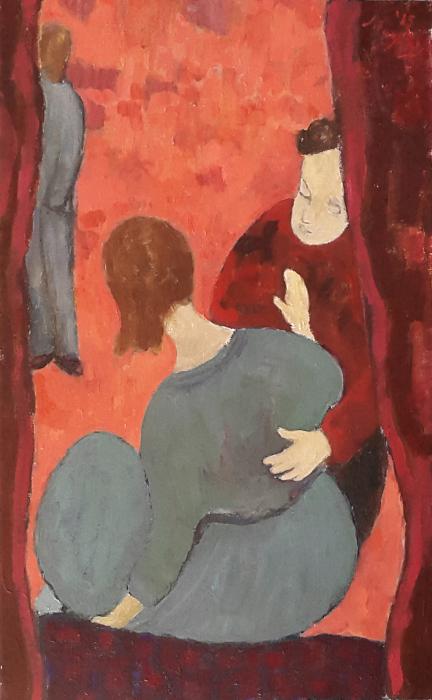 Le Desir 61 x 38 cm oil