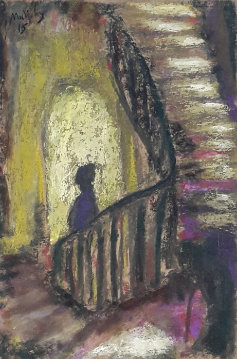 The Staircase pastel on paper 41 X 28 cm - web format.jpg