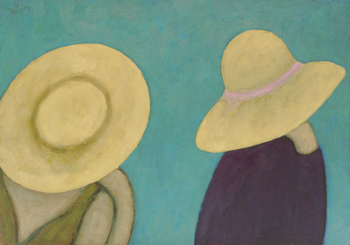 The Two Straw Hats 65 x 46cm oil on canvas