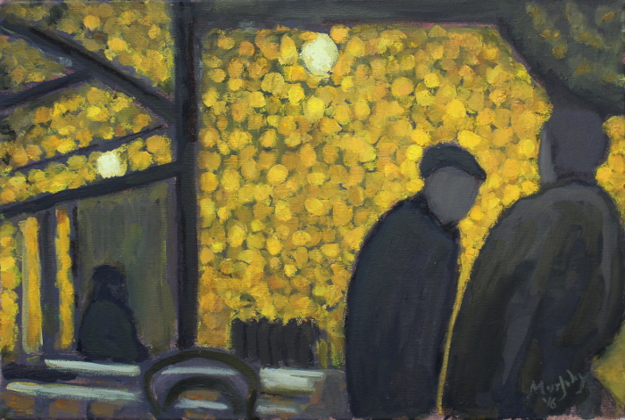 Café de la Gare , la nuit 55 x 38 cm oil on canvas - web