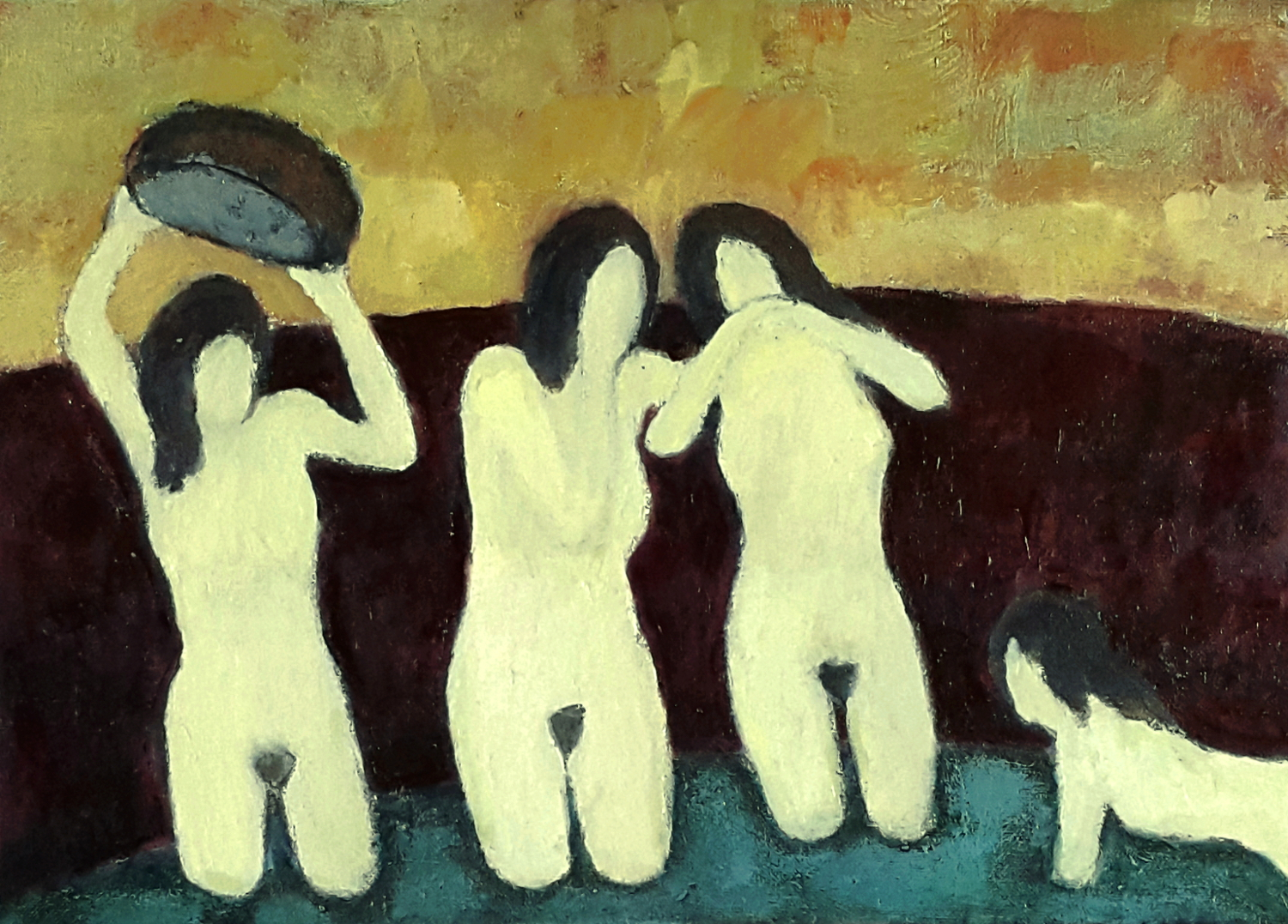 The Bathers 46 x 33 cm oil on canvas - web format