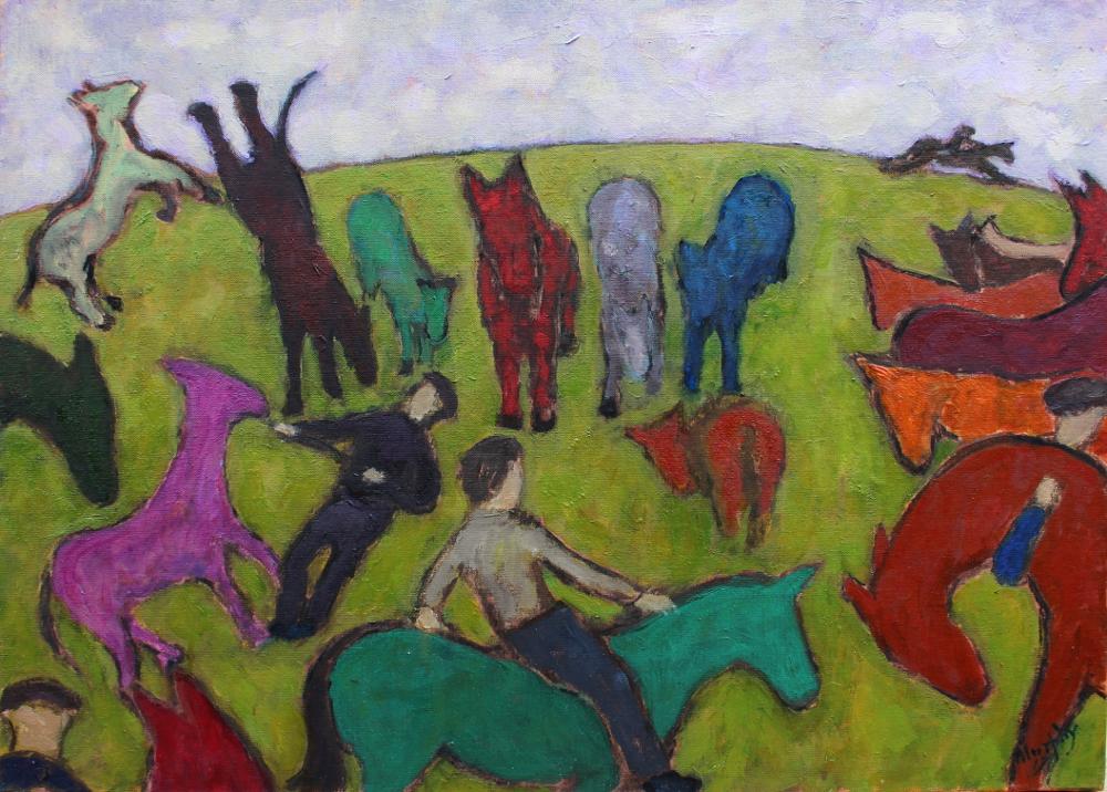 Ballinasloe Fair 73 x 54cm oil on canvas - web