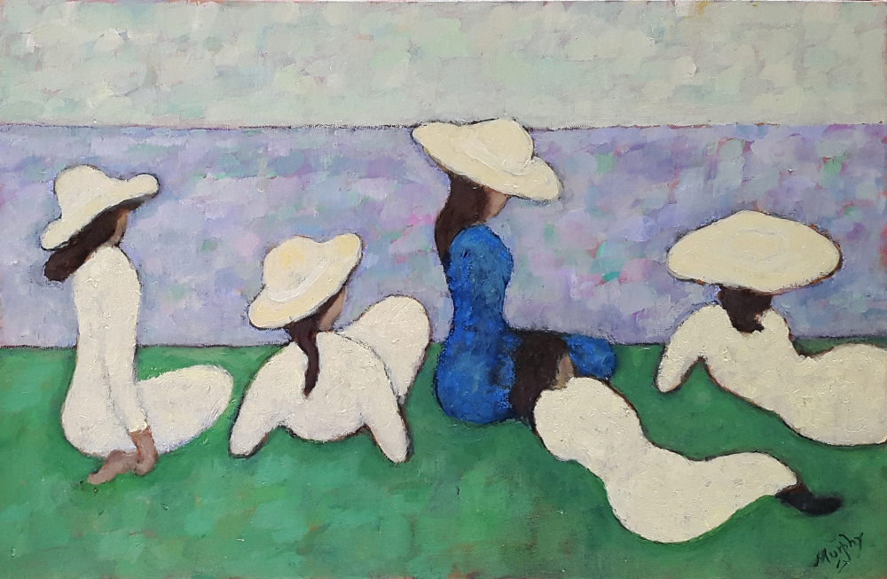 Four Daughters 65 x 46 cm oil on canvas - web
