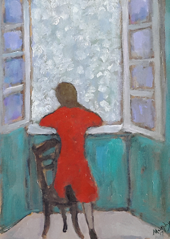 Girl at the Window  46 x 33 cm oil on canvas - web