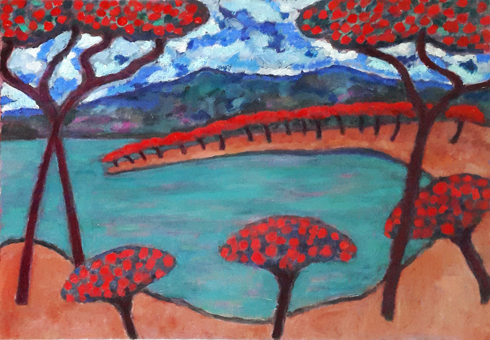La Baie des Parasols 81 x 60 cm oil on canvas - web
