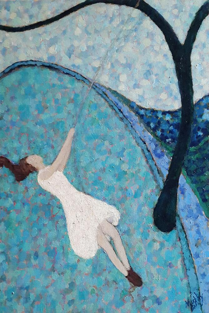 La Balançoire 65 x 46 cm oil on canvas - web