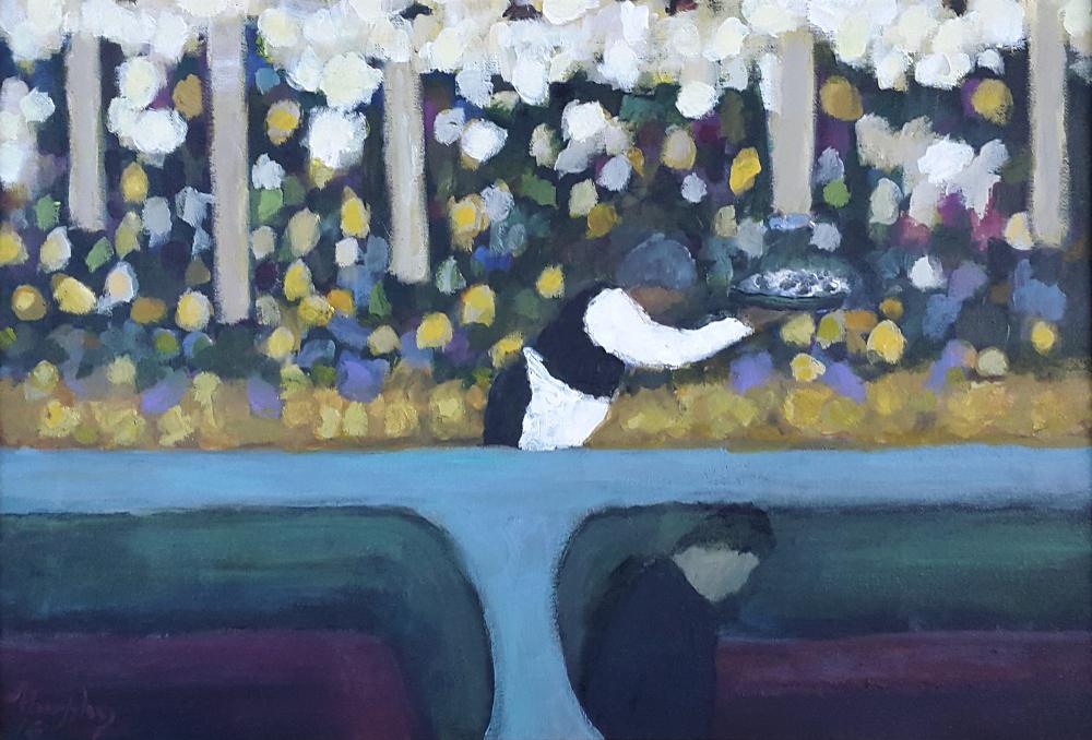 La Coupole ,Paris 55 x 38 cm oil on canvas - web