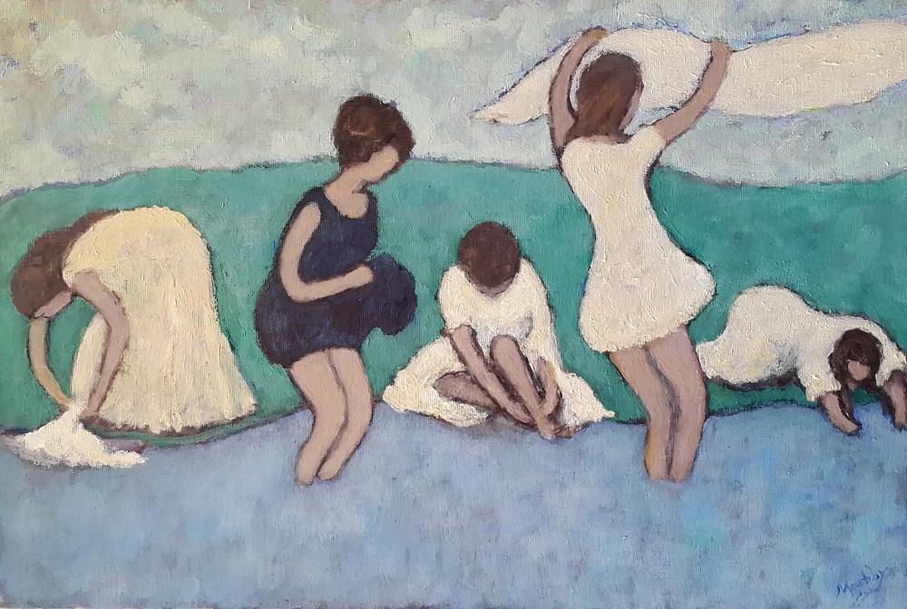 Le Lavoir 65 x 46cm oil on canvas -web