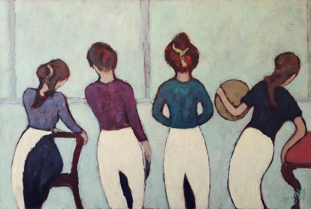 Les Belles Serveuses 73 x 50 cm oil on canvas - web