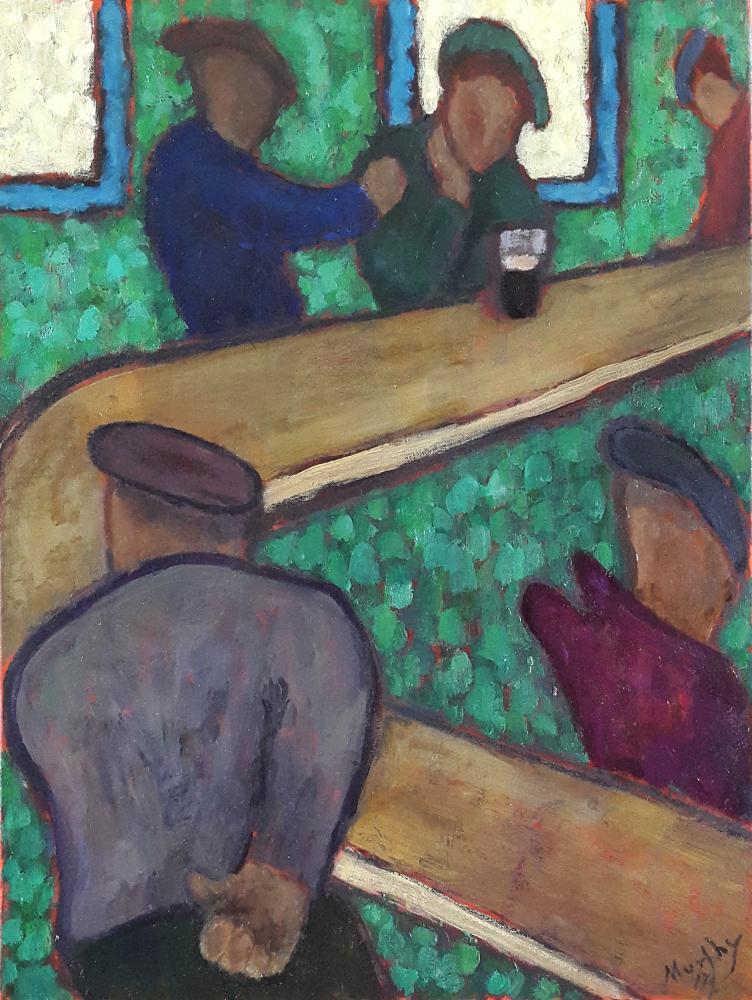 Sean Sweeney's Ahascragh 65 x 50 cm oil on canvas - web