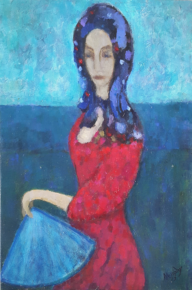 The Girl with Stars in her Eyes 65 x 46 cm oil on canvas - web