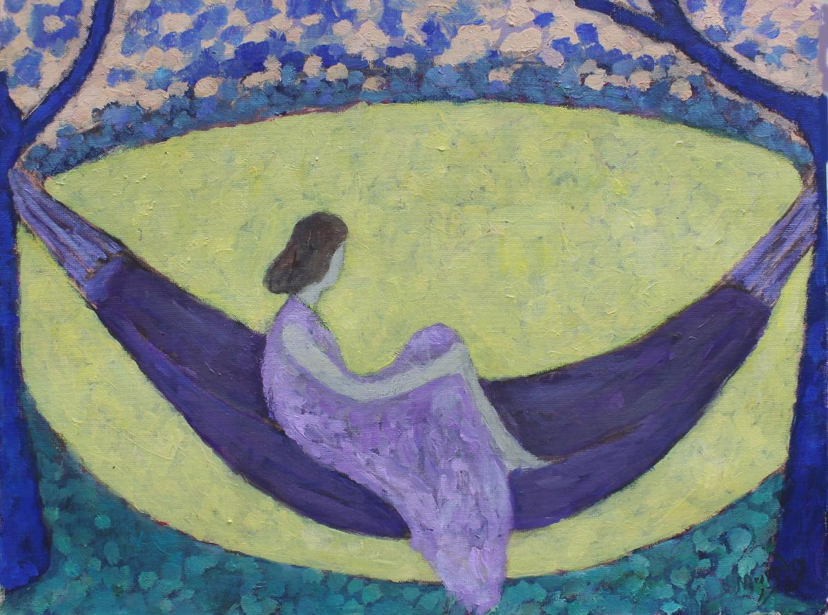 The Hammock 61 x 50 cm  oil on canvas - web