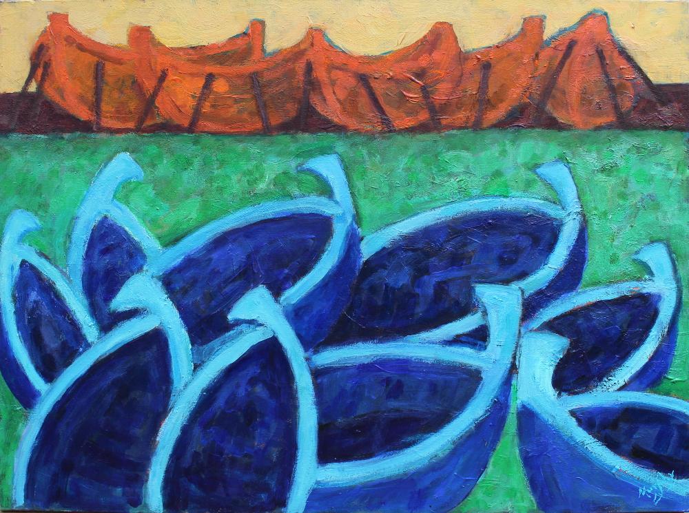 The Harbour 92 x 73 cm oil on canvas - web