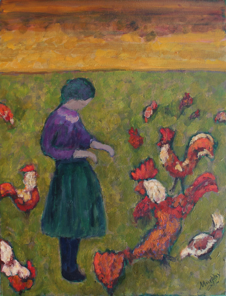 The Old Cock 65 x 50 cm oil on canvas - web