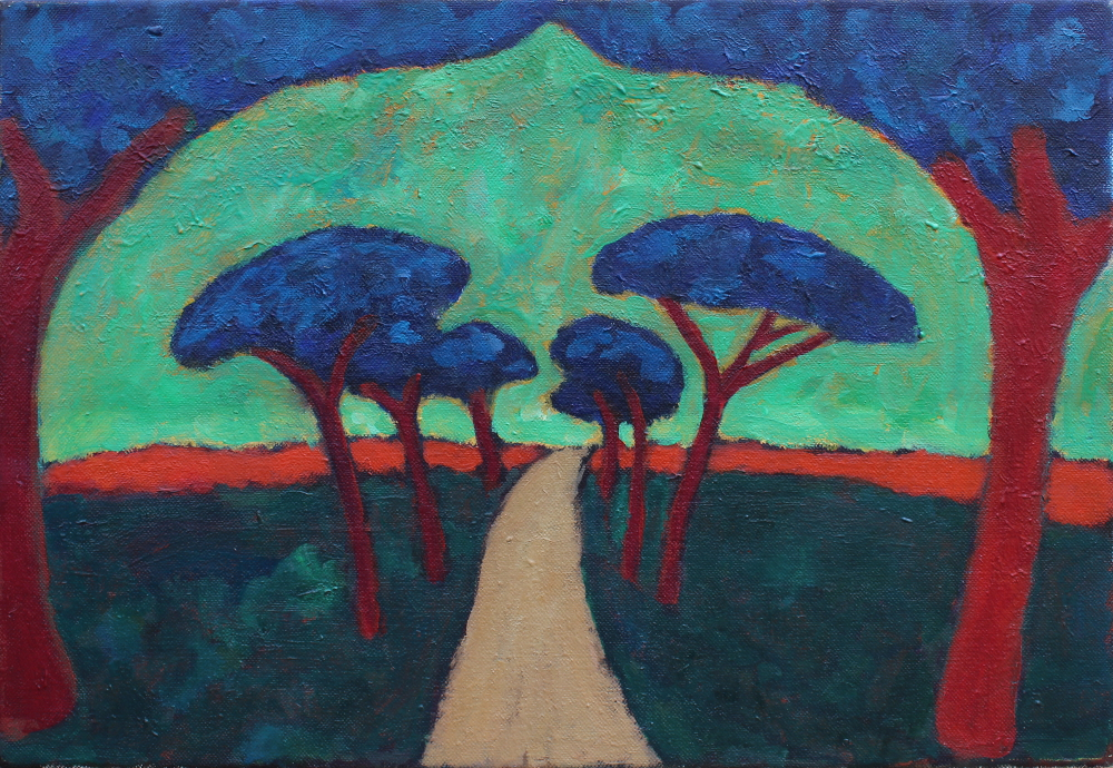 The Road to Rome 46 x 33 cm oil on canvas - web