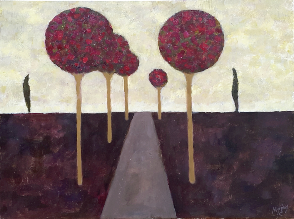 The Road to Vézelay 65 x 54 cm oil on canvas - web