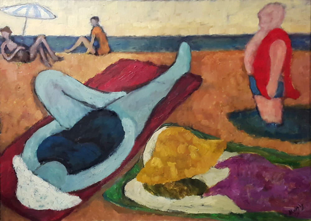 The Sun Worshippers 100 x 73 cm oil on canvas - web