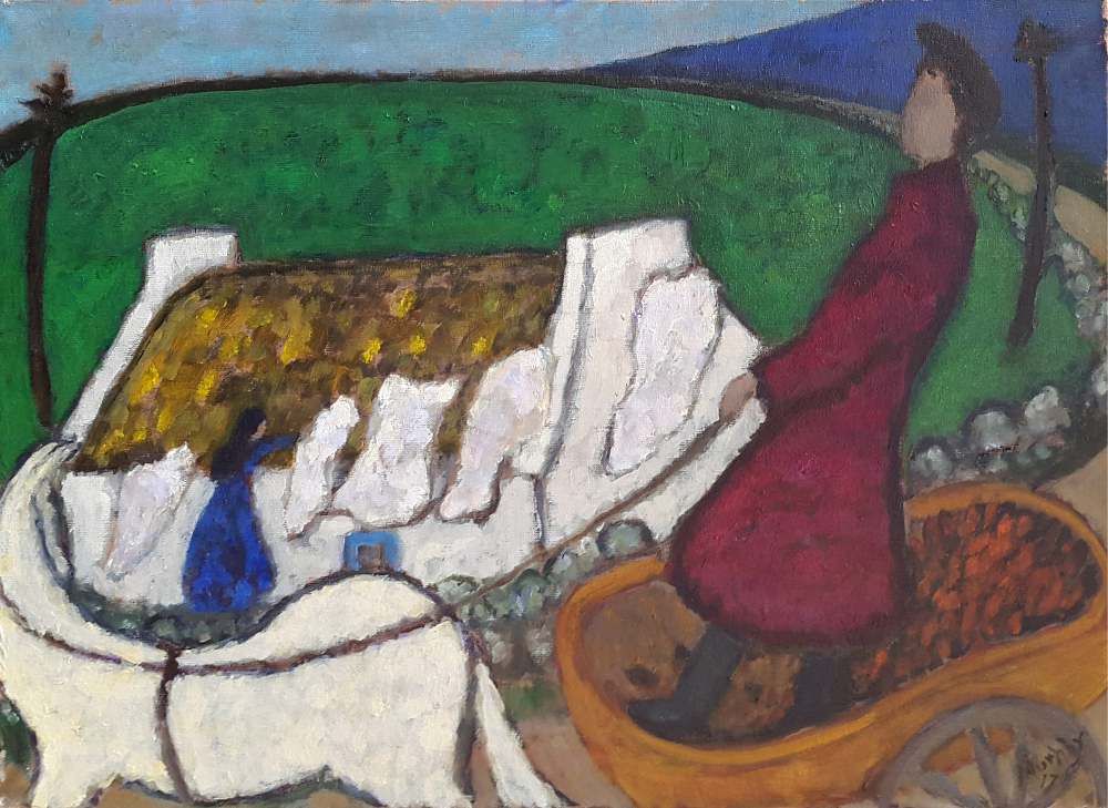 The Turfcutter 73 X 54 cm oil on canvas - web