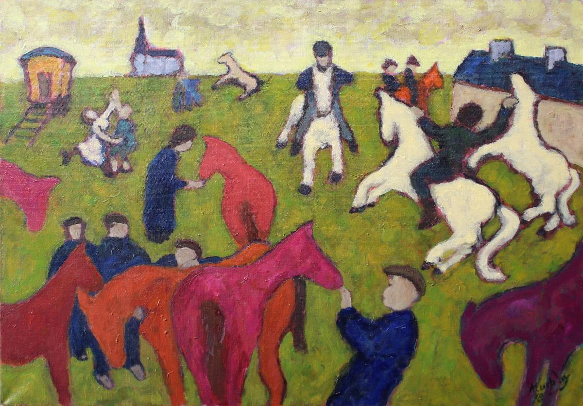 Ballinasloe Fair 73 x 54 cm oil on canvas - web