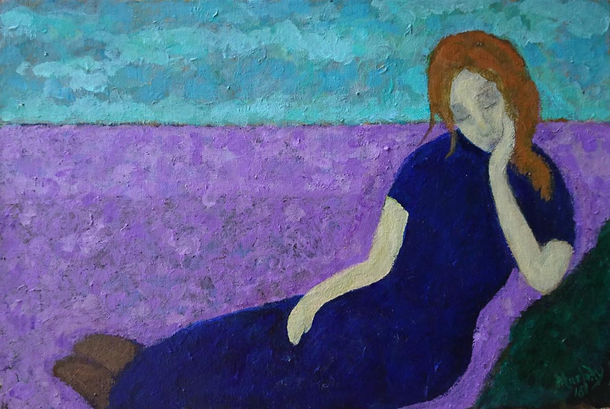 Belle et Triste 55 x 38 cm oil on canvas - web