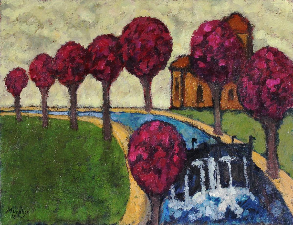Canal du Midi 61 x 46  cm oil on canvas - web