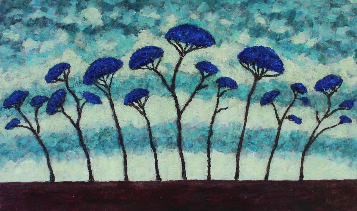 Cedars of Lebanon 61 x 38  cm oil on canvas - web