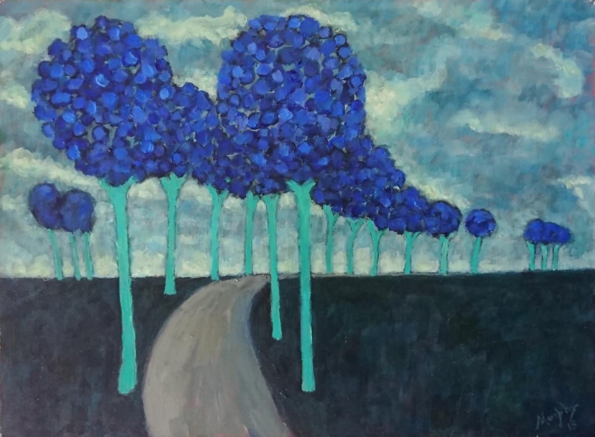 Chemin des Cathares 65 x 50 cm oil on canvas - web