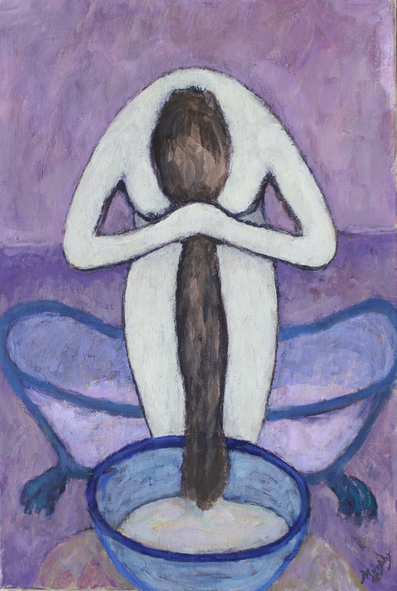 La Baignoire 73 x 50 cm oil on canvas  - web