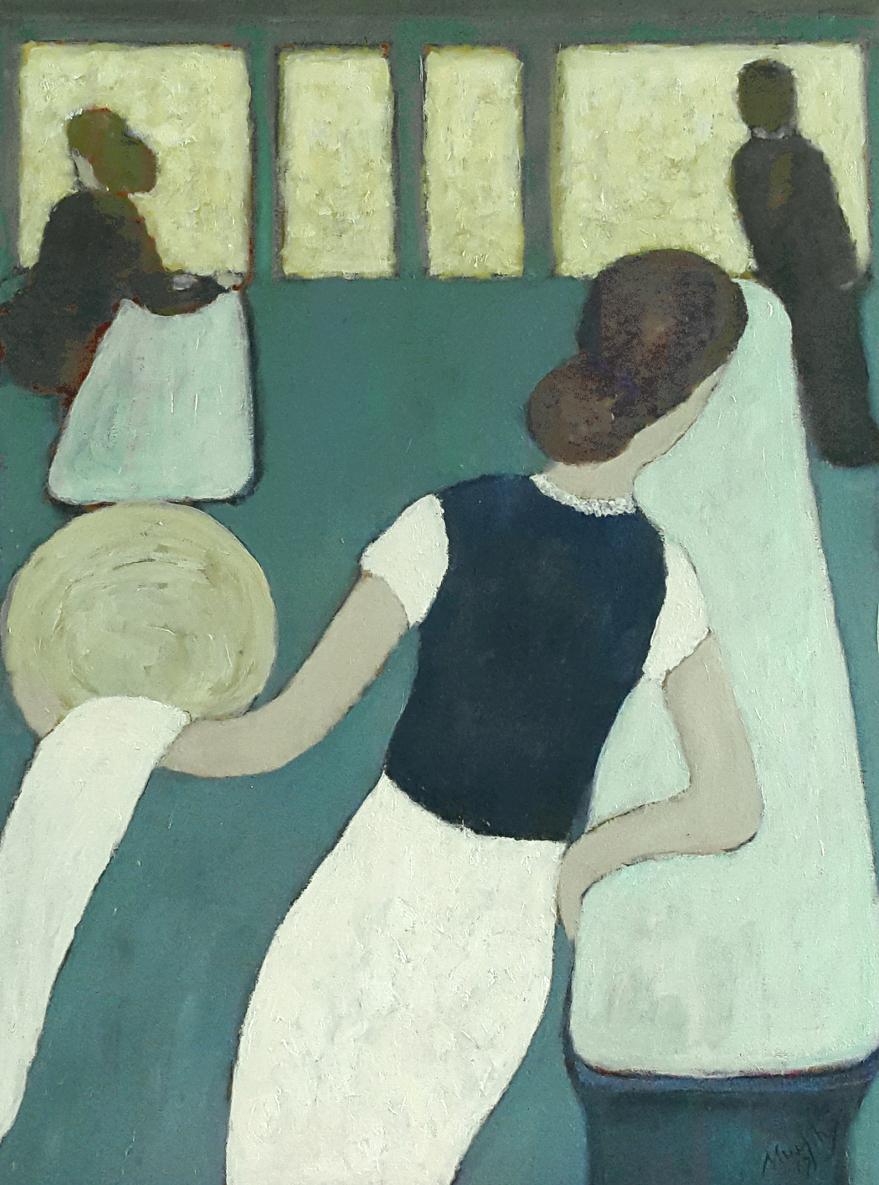 La Belle Serveuse   65 x 50 cm oil on canvas - web