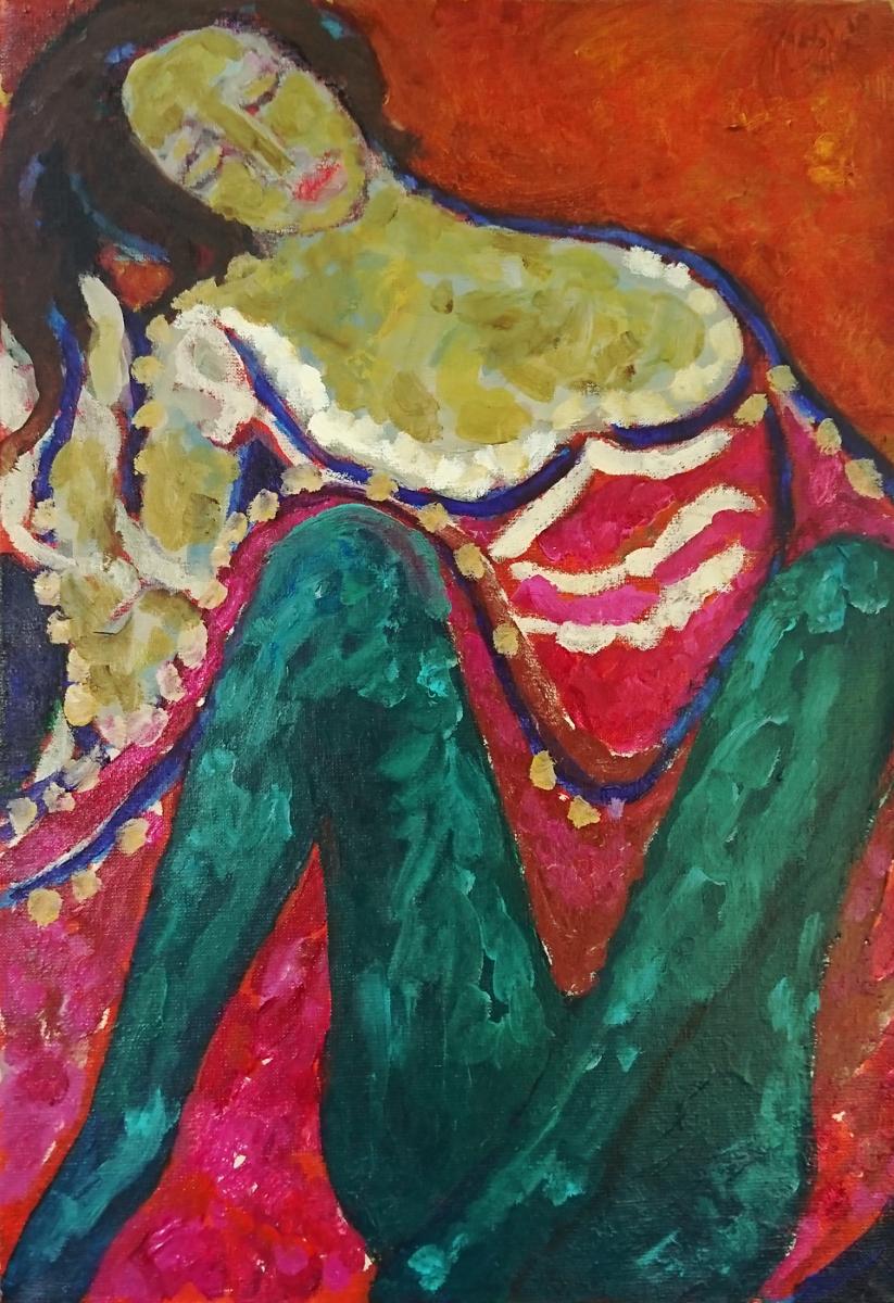 La Jupe Soulevée 55 x 38 cm oil on canvas -  web