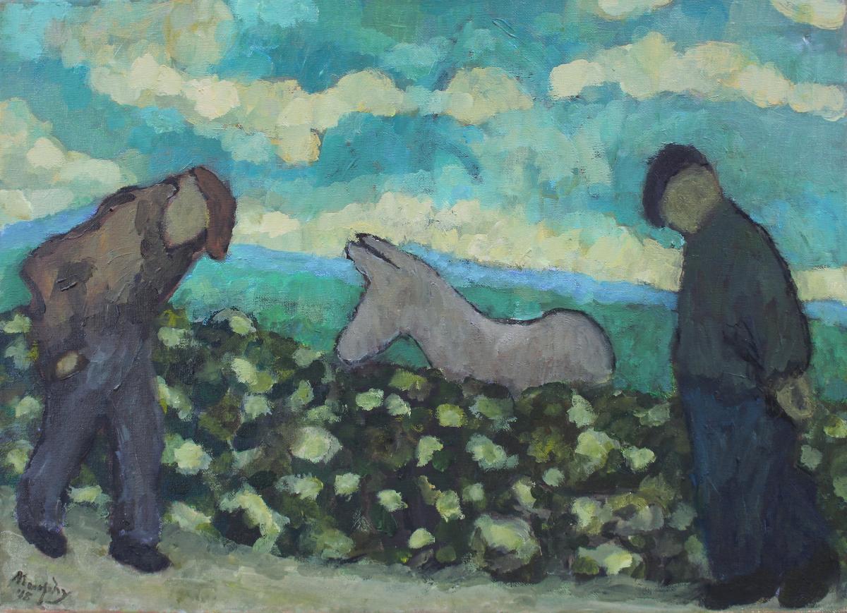 The Curious Donkey 65 x 50 cm oil on canvas - web