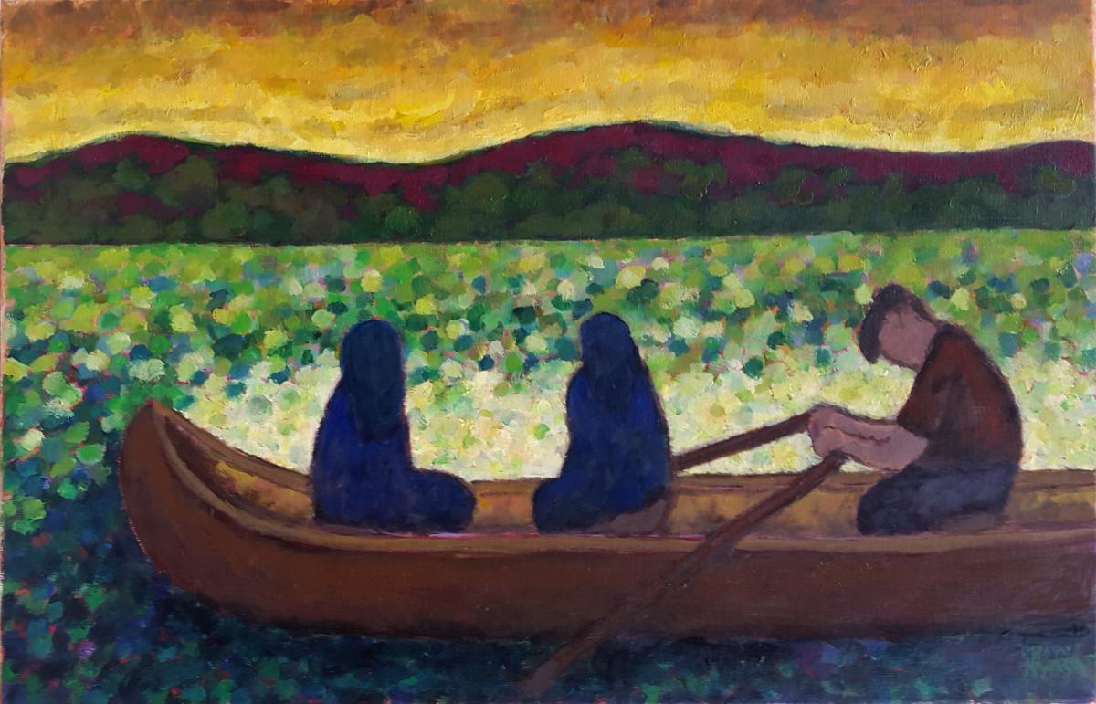 The Ferryman 73 X 50 cm oil on canvas - web