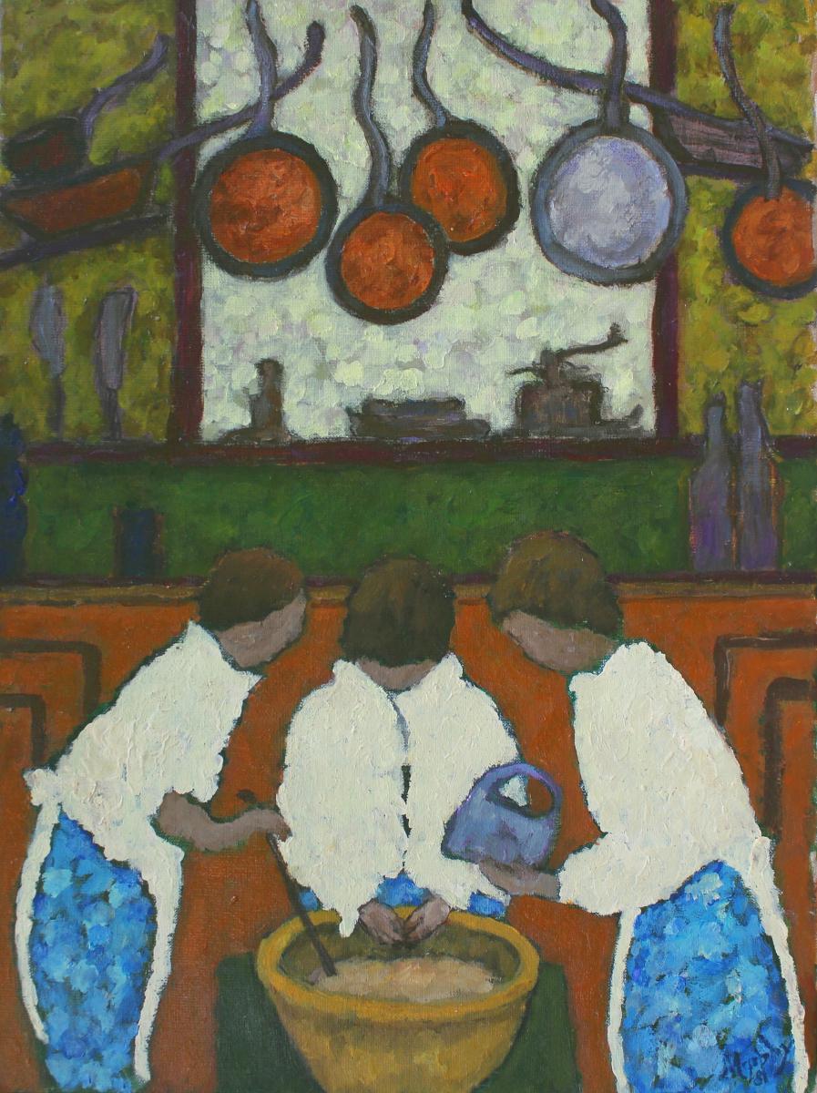 Three Chefs 61 x 46 cm oil on canvas - web