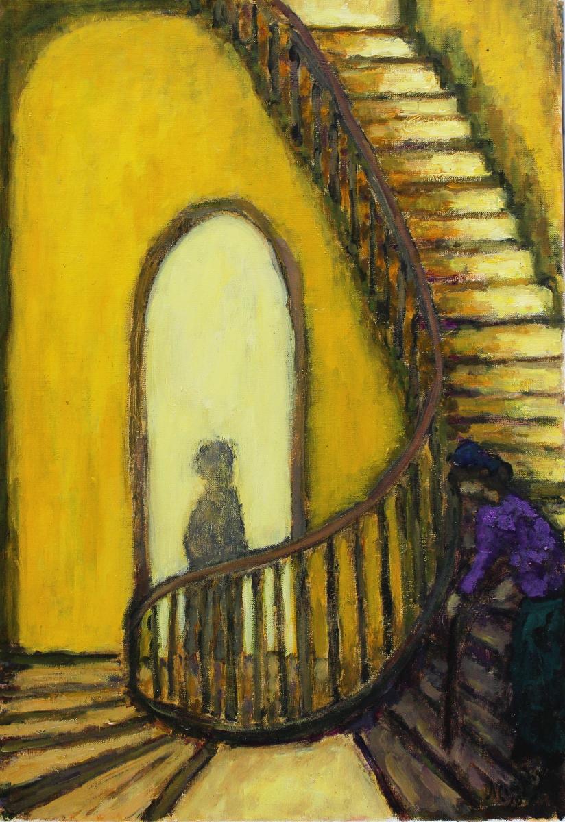 Dublin Staircase 65 x 46 cm oil on canvas - web