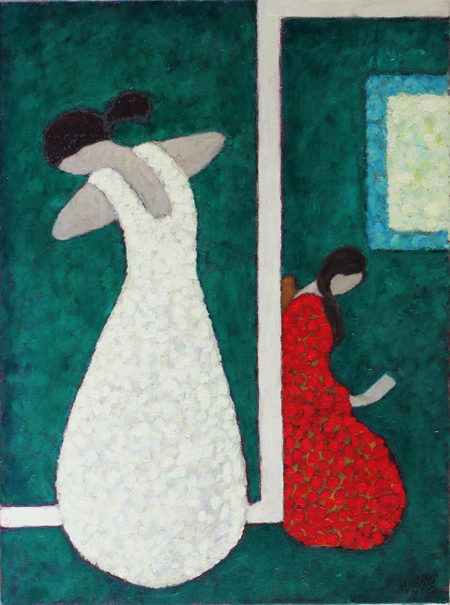 Le Boudoir 73 x 54 cm oil on canvas -  web