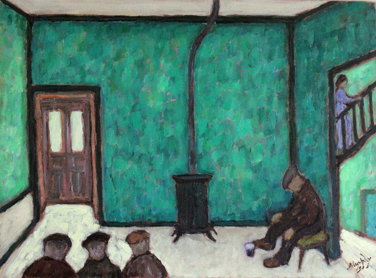 Sean Sweeney's  73 x 54 cm oil on canvas - web