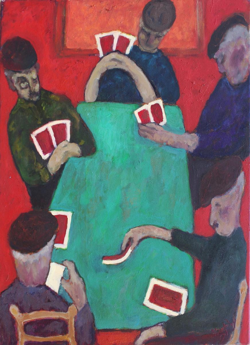The Card Players 65 x 50 cm oil on canvas -  web