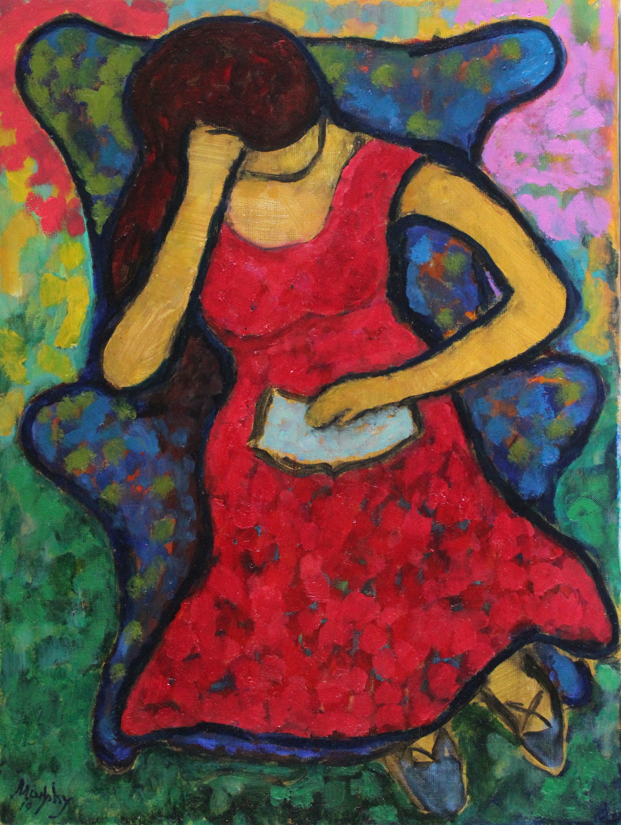 The-Red-Dress-61-x-46-cm-oil-on-canvas-web