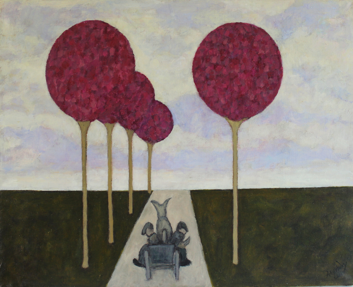 The Sidecar 92 x 73 cm oil on canvas  - web