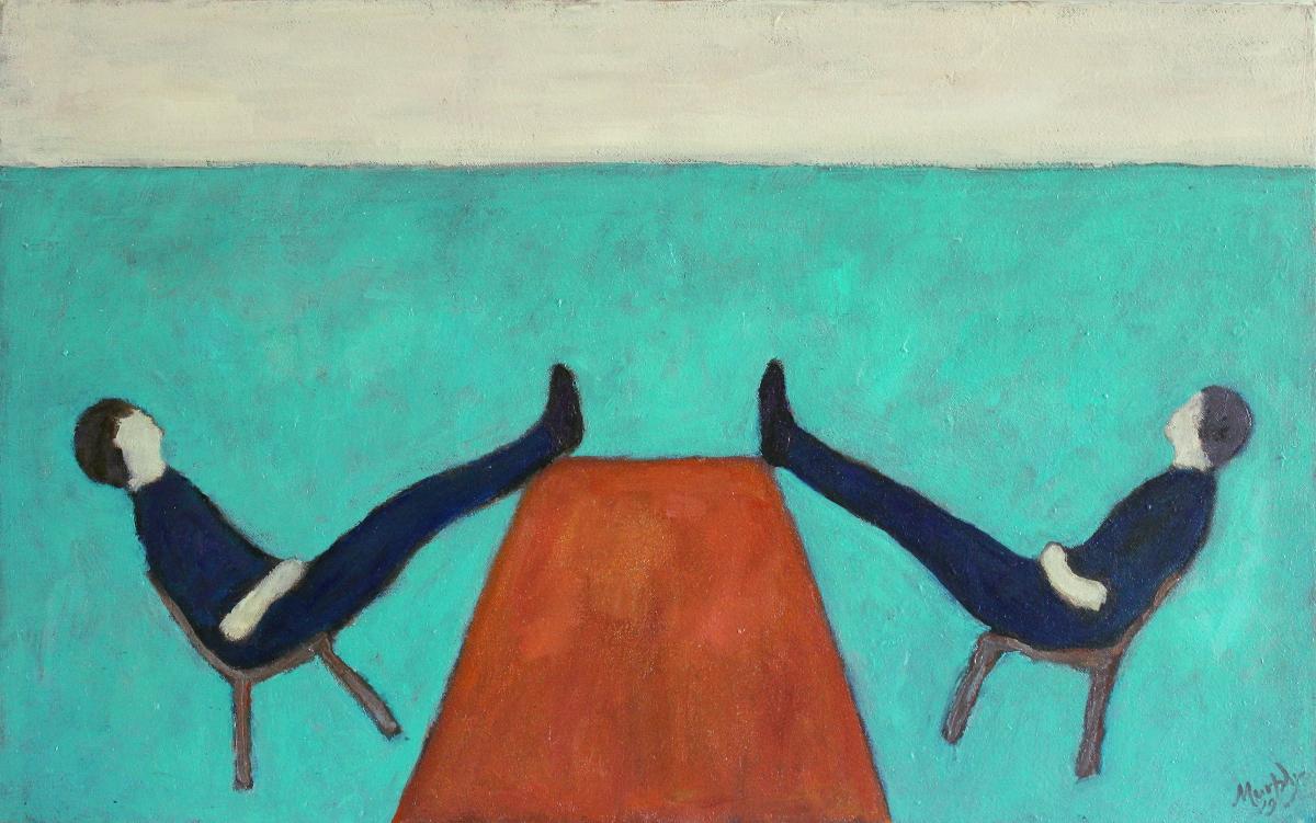 The Table 61 x 38 cm oil on canvas - web